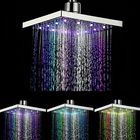 Meilleurs prix 360° Adjustable Chrome Water Temperature Controlled Multi-Color LED Shower Head 6 Inch