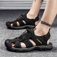 Genuine Leather Breathable Soft Outdoor Beach Sandals