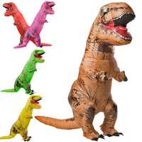 Inflatable Dinosaur Halloween Costume Adult Jurassic World Park Blowup Fancy Dress Suit