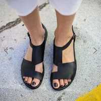 US Size 5-12 Splicing Buckle Flat Sandals
