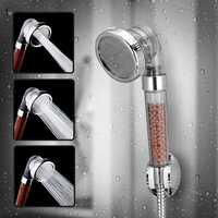 KCASA KC-SH460 Bathroom Shower Head Handheld Adjustable Negative Ion SPA Pressurize Filter