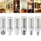 Acheter Dimmable E27 E14 E12 G9 GU10 B22 6W SMD4014 LED Corn Bulb Chandelier Light AC220V