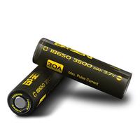 2pcs Basen BS186M 18650 3500mah 3.7V 30A High Drain Flat Top Rechargeable Li-ion Battery