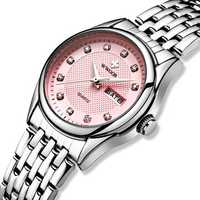 WWOOR 8824 Diamonds Casual Style Calendar Ladies Wrist Watch