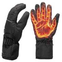 Waterproof Rechargeable Heated Gloves For Motorycle Bicycle Skiing Gift Unisex L XL