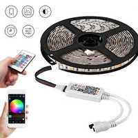 5M SMD5050 Smart WiFi RGB 300LEDs Strip Light EU Plug Work with Amazon Echo Alexa Google Home