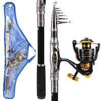 ZANLURE 2.7m/3.3m 3000 Reel Carbon Telescopic Fishing Rod Reel Combo Sea Fishing Suit