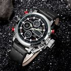 Buy at Best Price OULM 3811 Waterproof LED Casual Style Dual Display Watch
