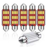 Audew 6PCS 42mm C5W 4014 SMD LED Festoon Dome Lights Licence Plate Bulbs 12V 2.7W 4882K White Kit