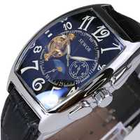 SEWOR Rectangle Luxury Leather Mechanical Analog Men Wrist Watch