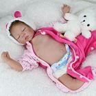 Les plus populaires 22'' Handicraft Cute Realistic Reborn Newborn Baby Happy Boy Dolls Silicone Toys