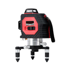 Recommandé 50M Laser Level Super Strong 12 Line Infrared Red Light Full Wall Meter With Optional Detec