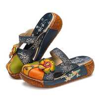 SOCOFY Leather Flats Loafers