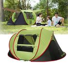 Acheter au meilleur prix 2-5 People Full-automatic Camping Tent Waterproof 4 Large Mesh Windows 2 Door Family Tent UV Protection Sunshade Canopy for All Seasons