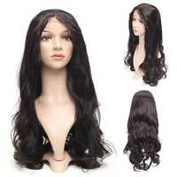 24'' Dark Brown Wave Lace Front Full Wigs