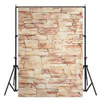 5x7FT Vinyl Stone Brick Wall Photography Backdrop Photo Background Studio Prop