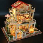 Meilleurs prix Hoomeda 13845 Be Enduring As The Universe DIY Dollhouse With Music Light Cover Miniature Model