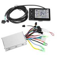 36V-48V 350W Brushless Controller with LCD Display For Scooter E-Bike Electric Motor