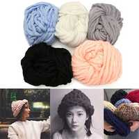 Five Color Scarf Knitted line Warm Hat Hooded Scarf Earflap Best for Beginning Knitter