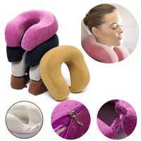 U Shape Slow Rebound Memory Foam Pillow Neck Protect Head Rest Travel Soft Cushion