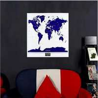 1PC New Hot High Quality Luminous Deluxe World Map Personalized Travel Vacation Scratch Map With Fluorescent Starlight Gift Home Decor Double Side Wall Sticker