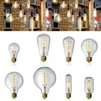 E27 Dimmable COB LED Vintage Retro Industrial Edison Lamp Indoor Lighting Filament Light Bulb AC220V