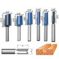 6pcs 1/4 Inch Shank Router Bit Set Wood Working Cutter