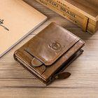 Promotion Bullcaptain Cowhide Vintage Zipper Wallet for Men