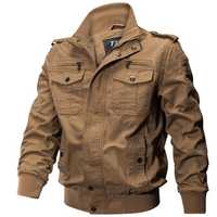 Outdoor Tactical Washed Cotton Plus Size Military Jackets