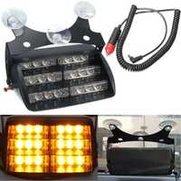 Car 18 LED Yellow Warning Light Flashing Strobe Emergency Lamp Amber Truck SUV