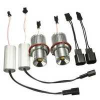 2PCS 40W LED Angel Eyes Lights Marker Halo Ring Bulbs No OBC Error For BMW E39 E60 E83