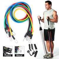 KALOAD 11PCS/SET Fitness Resistance Bands Sport Gym Yoga Belt Body Beauty Band
