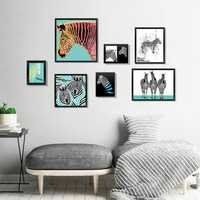 Miico Seven-dimensional Stereo Photo Frame Art Zebra Wall Sticker