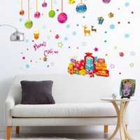 DIY Sticker Wall Decor Merry Christmas Santa Removable Art Window Door Home Rome