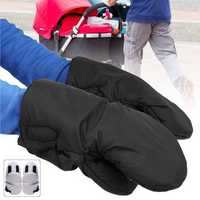 1 Pair Winter Warmer Thickened Gloves Baby Pushchair Stroller Hand Pram Muff Work Gloves