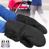 1 Pair Winter Warmer Thickened Gloves Baby Pushchair Stroller Hand Pram Muff Work Gloves