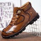 Acheter au meilleur prix Menico Men Hand Stitching Comfy Slip Resistant Casual Leather Ankle Boots