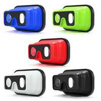 3D Foldable Silicone Virtual Reality VR Glasses for 4.0 to 5.8 Inches Cell Phone