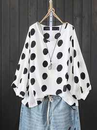 Polka Dot Casual Blouse