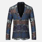Offres Flash Mens Ethnic Style Printing Suit Jacket Blazers