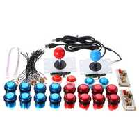 Dual Player Push Buttons Joysticks USB Encoder Arcade Mame DIY Kit Set Parts