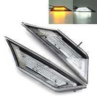 LED Car Transparent Side Marker Lights Turn Signal Corner Parking Lamp for Honda Civic 10 16-18