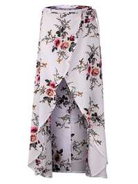 Floral Printed Irregular Split Hem Women Skirts