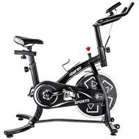 TREXM S280 Indoor Cycling Bike Belt Drive Exercise Bike with 22lbs Flywheel Led Light Player