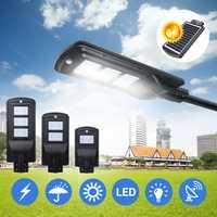 20W 40W 60W LED Wall Street Solar Light Radar Induction Motion Sensor Outdoor Lamp