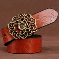 110CM Women 100% Second Layer Belt Cow Genuine Leather
