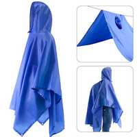 Raincoat Adult Conjoined Raincoat Outdoor Multi-function Three In One Raincoat- Blue