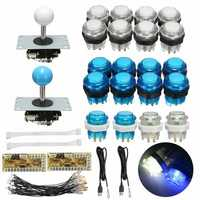 Push Button Joystick USB Encoder 0 Delay Arcade Game DIY Kit Parts