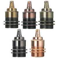 E27/E26 Copper Retro Edison Light Lamp Bulb Holder Socket Shade Rings Cord Grip