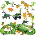 Recommandé 153Pcs Dinosaur Railway Car Track Racing Track Toys Set Bend Flexible Race Track Flash Light Car Educational Toys for Kids Gift